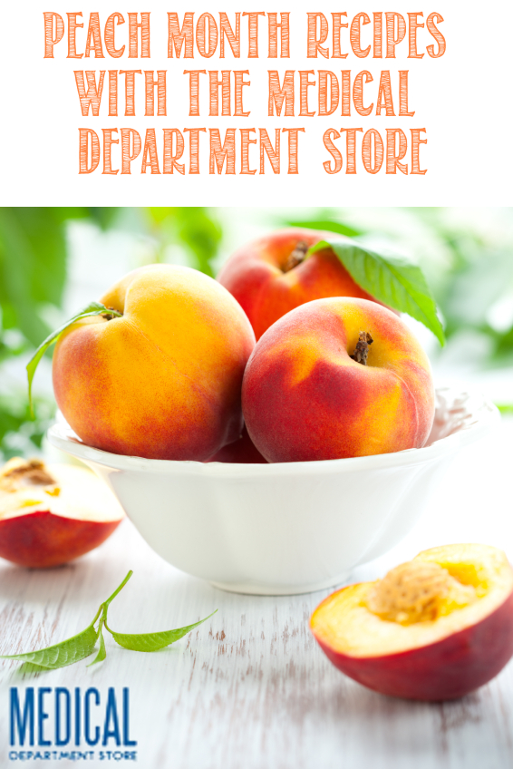 Peach Month is upon us and so are delicious recipes.