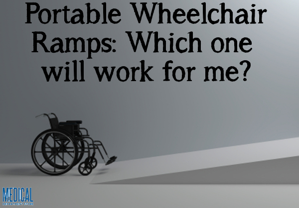 Portable wheelchair ramps can help you gain independence.