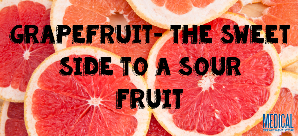 fresh grapefruit and slices background